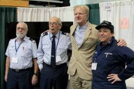 Members of the U.S. Coast Guard Auxiliary with Ed Begley Jr